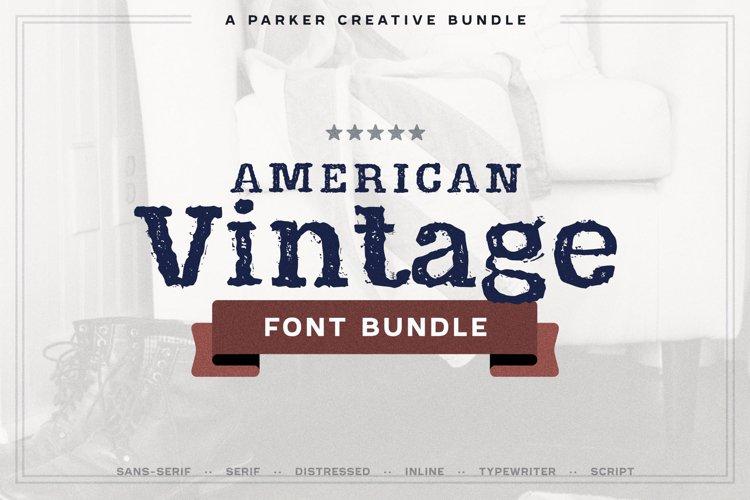 American Fonts | Vintage Font Bundle