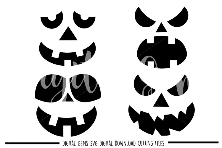Pumpkin face SVG / PNG / EPS / DXF files example image 1