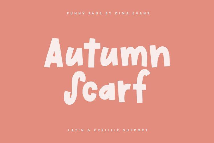 Autumn Scarf Cute Latin/Cyrillic