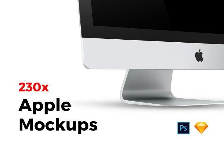 230x Apple Mockups Bundle