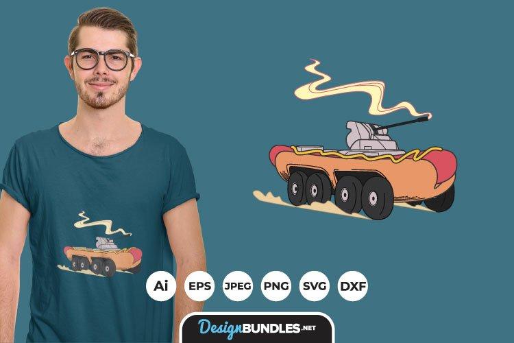 Hotdog Tank for T-Shirt Design example image 1