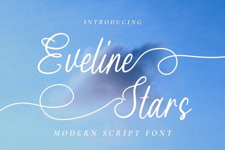 Web Font Eveline Stars example image 1
