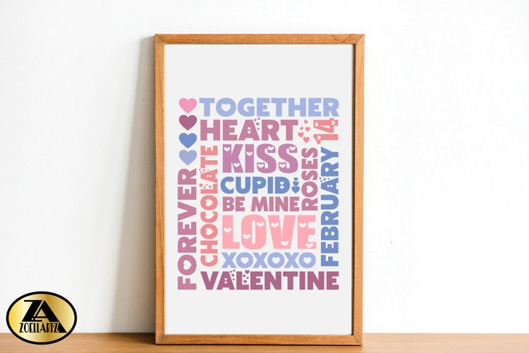 Valentines day SVG Valentine Sign SVG Valentine Subway Art example 1
