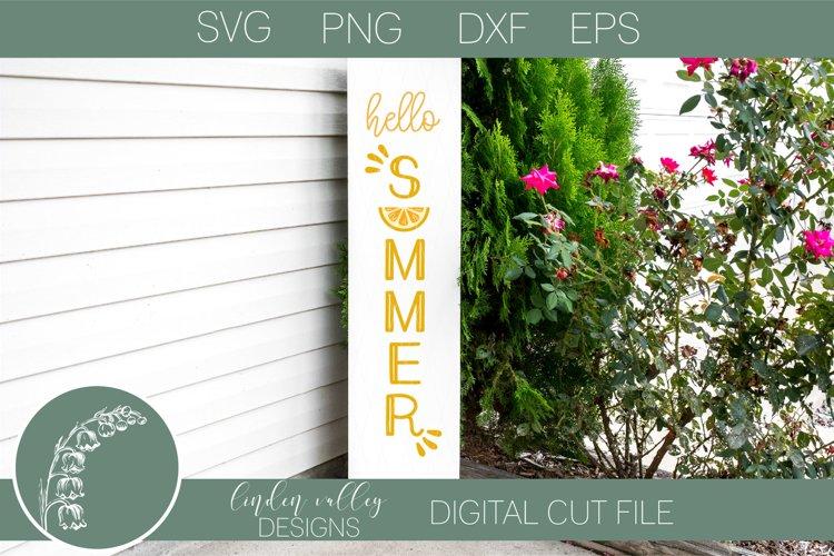 Hello Summer SVG Vertical Porch Sign SVG Summer Lemons SVG