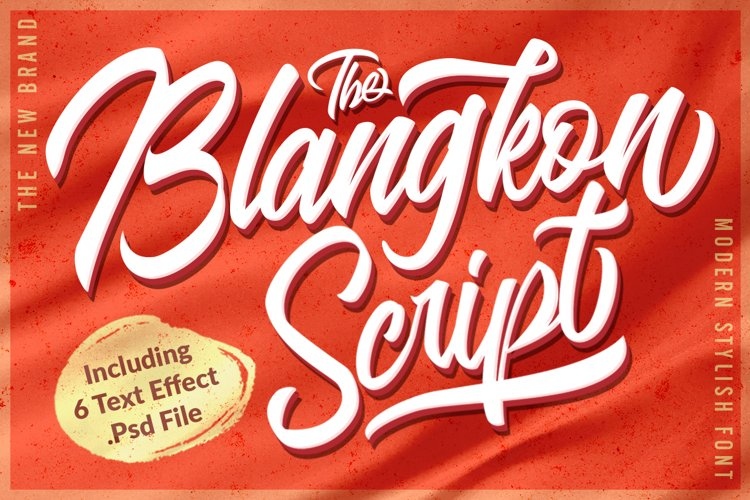 Casual Logo Font - The Blangkon Script example image 1