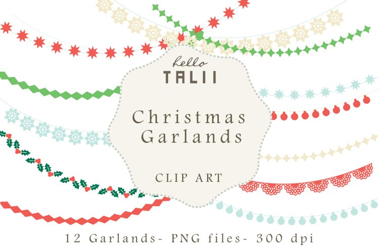 Christmas Garlands Clip Art example image 1