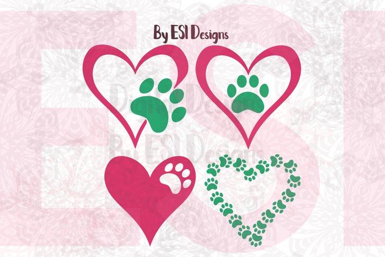 Paw Print Heart Designs