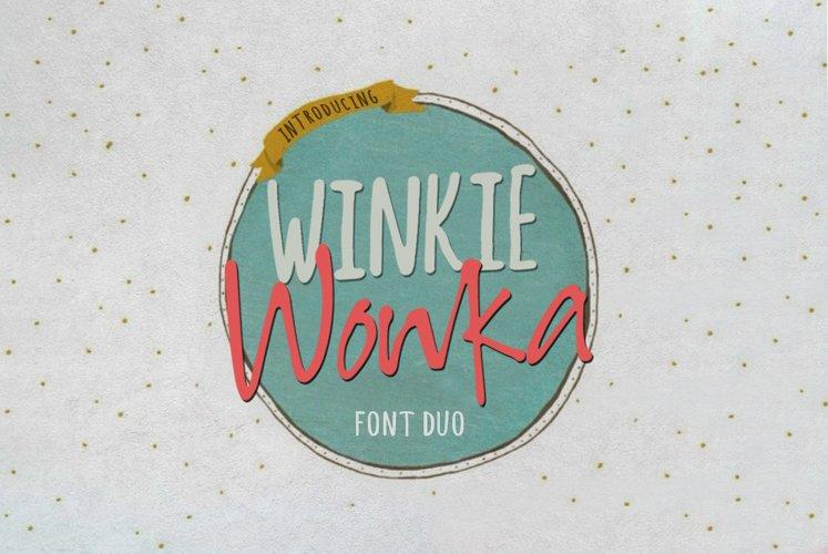 Winkie Wonka Font Duo example image 1
