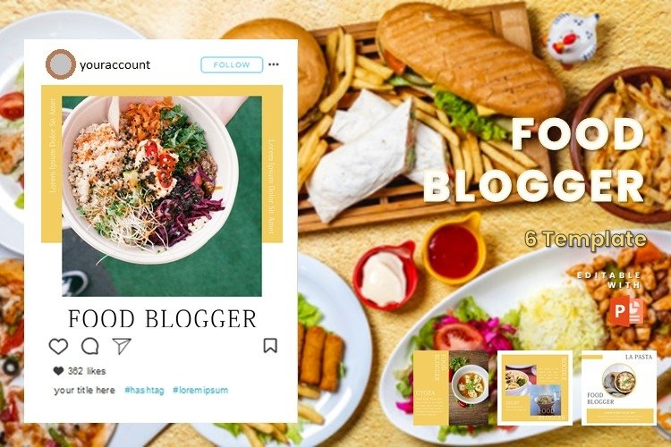 Instagram Post Template - Food Blogger