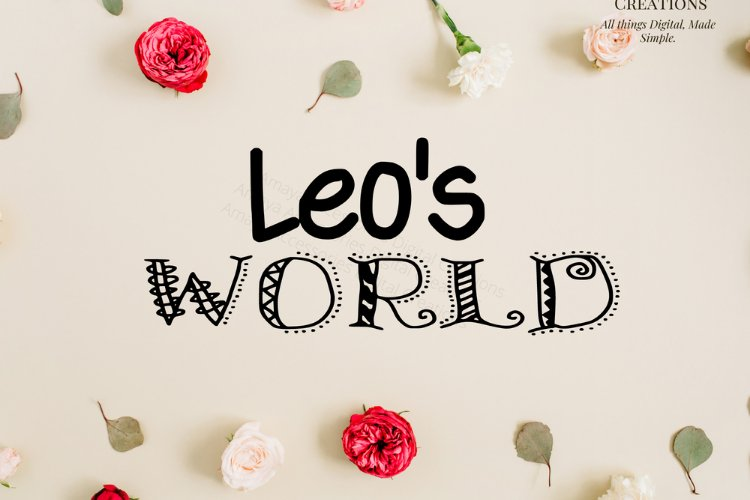 Leo's World Instant Download example image 1