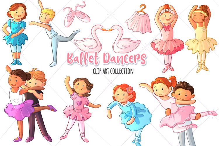Ballet Dancers Clip Art Collection example image 1