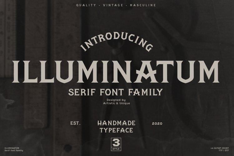 illuminatum - Serif font family example image 1