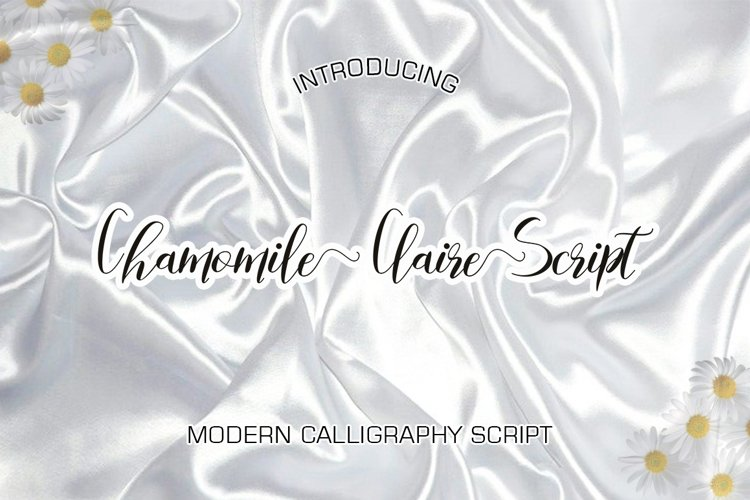 Chamomile Claire Script example image 1