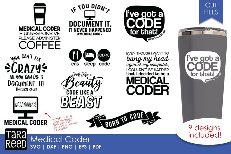 Medical Coder - SVG and Cut Files for Crafters