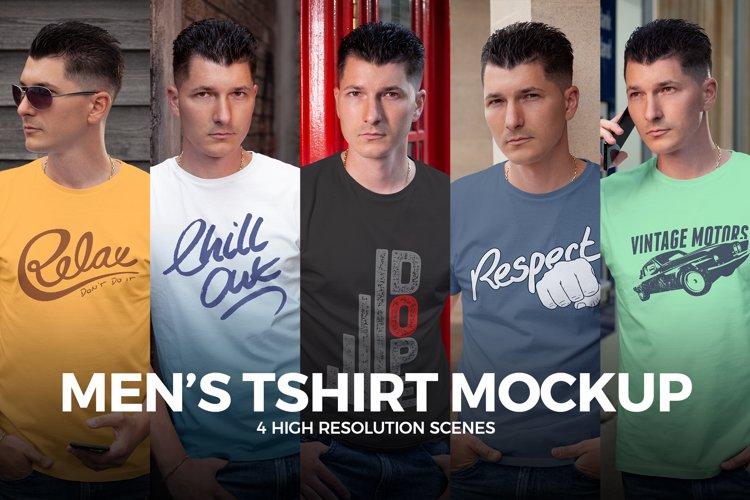 Men's T-shirt Mock-up example image 1