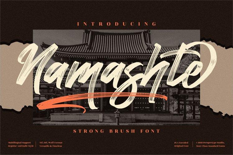 Namashte - Strong Brush Font example image 1