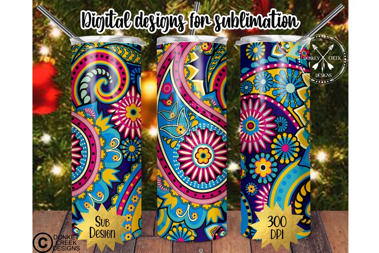 20 oz Skinny tumbler Sublimation PNG Template