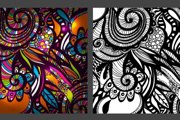 2 Zentangle Inspired patterns.