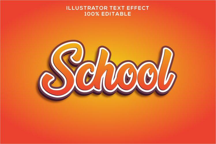 school text effect editable vector example image 1