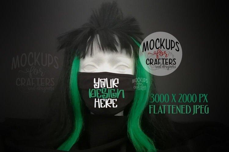 Corona virus mask, Halloween theme, BONUS included, MOCK-UP