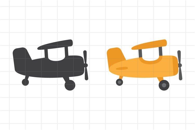 Airplane SVG, cartoon plane for kids, aircraft cut file