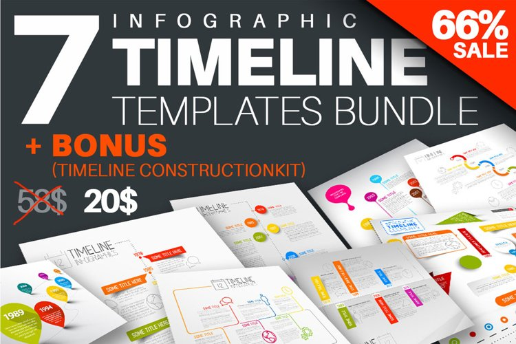 Infographic Timeline Templates Bundle