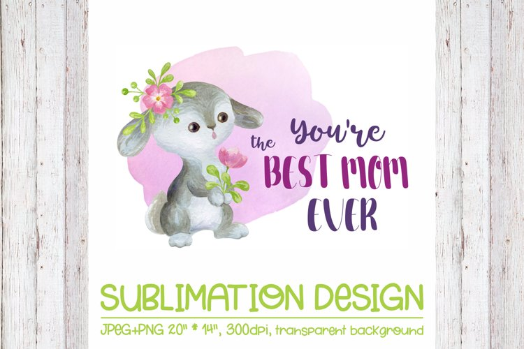 Youre the Best Mom Ever -Mothers Day Design with Bunny