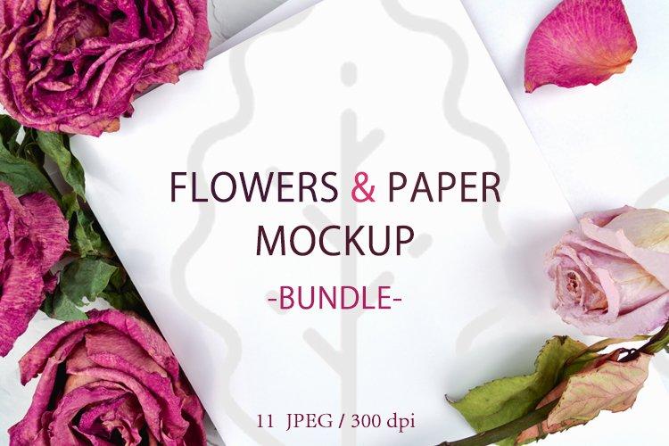 Flowers mockup, mockup bundle, valentine mockup example image 1
