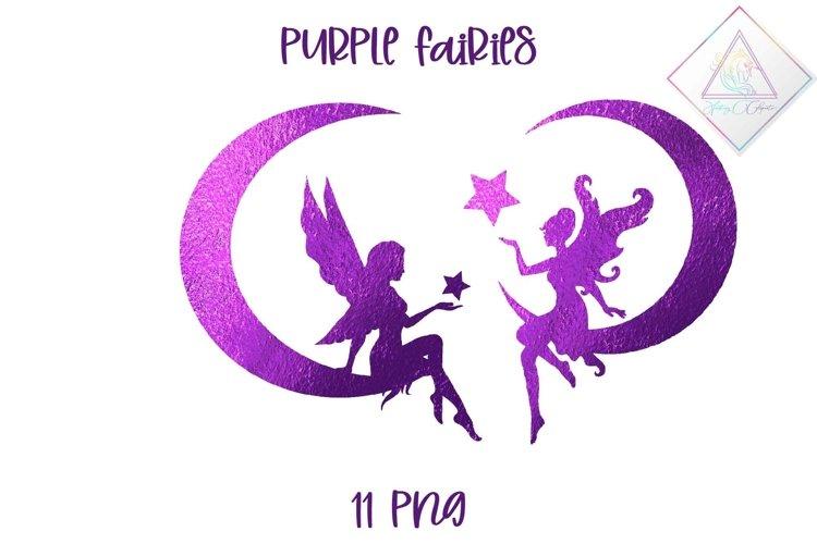 Purple Fairies Clipart