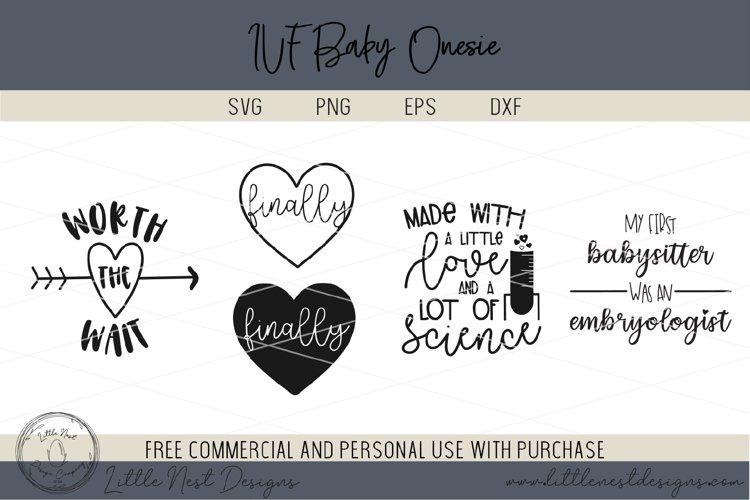 IVF Baby Onesie SVG Bundle - Onesie Cut Files