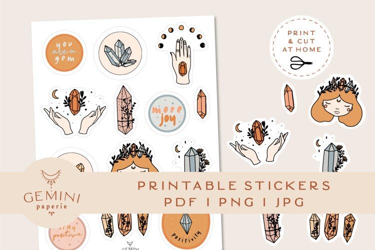Gemstone Printable Stickers   Cricut Design Sticker Sheet example image 1