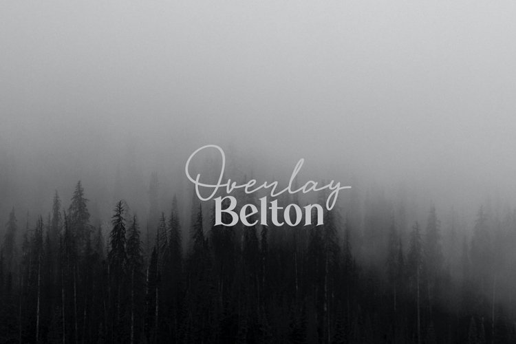 Overlay Belton - Duo Font example image 1