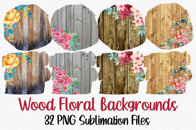Wood Floral Sublimation Bundle | Sublimation Backgrounds