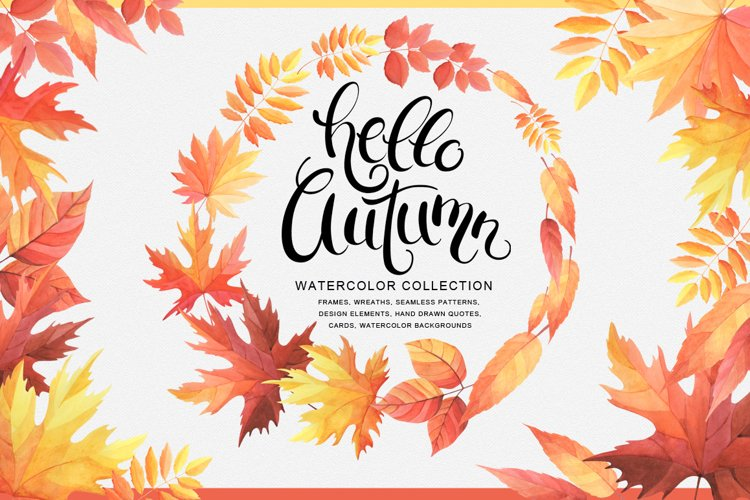 Hello Autumn watercolor collection example image 1