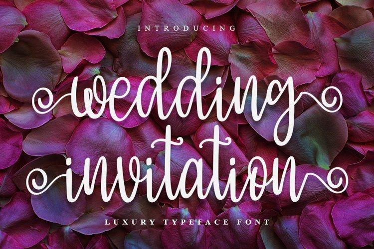 Wedding Invitation - Luxury Typeface Font