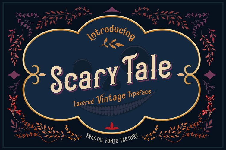 Scarytale - vintage multi-layered font