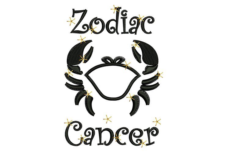 Cancer machine embroidery designs