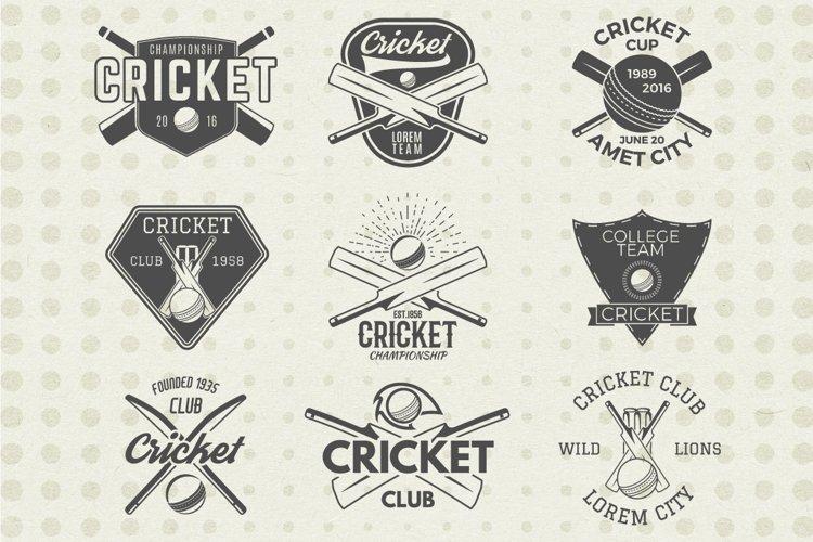 Cricket Logos Badges & Design Elements. SVG Cut Files Bundle example image 1