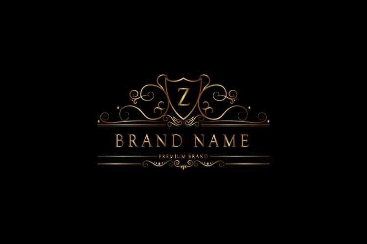 Monogram logo letter Z premium luxury gold. Vector in Eps10.