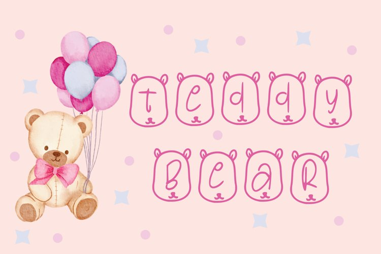 teddy bear font example image 1