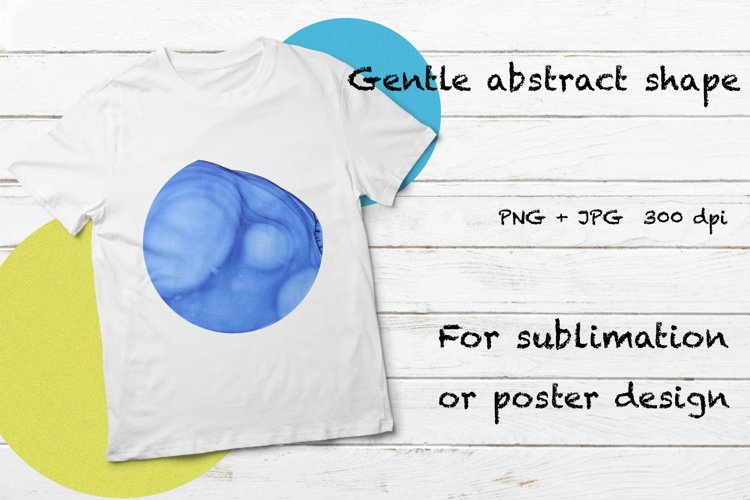 Blue watercolor sublimation background alcohol ink PNG poste example image 1