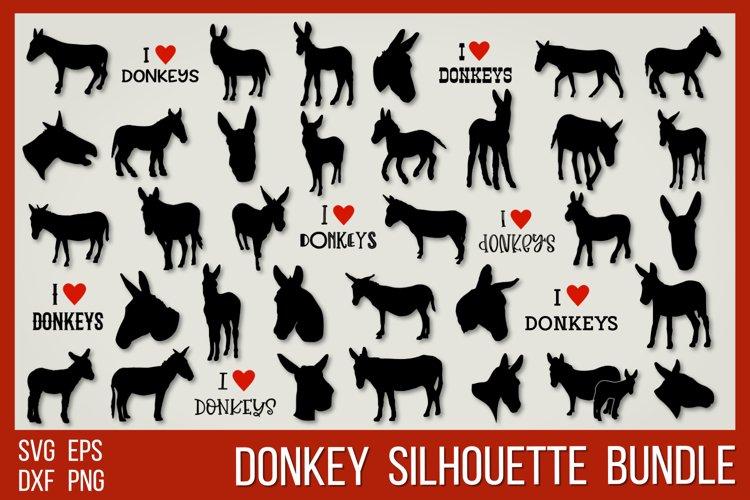 Donkey silhouettes