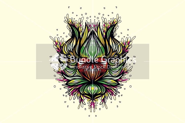 Lotus Heart - Freehand Symmetrical Design Background example image 1