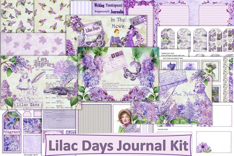 Lilac Days Printable Journal Kit with free ephemera.