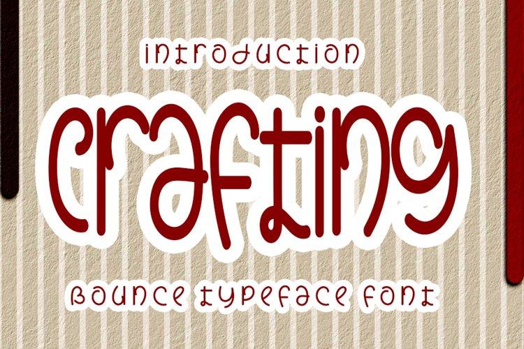 Crafting - Unique Handwrittwn Font example image 1