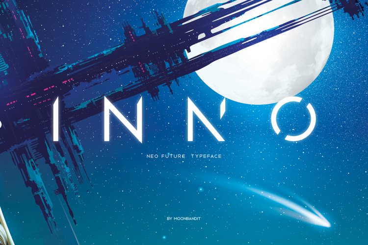 INNO Font, modern scifi typeface example image 1