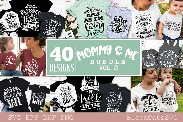 Mommy and me SVG bundle 40 designs vol 2 example image 1