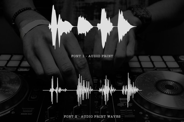 AudioPrint WaveForm Font example image 1