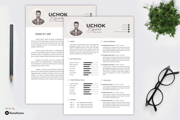 Clean Resume vol. 34