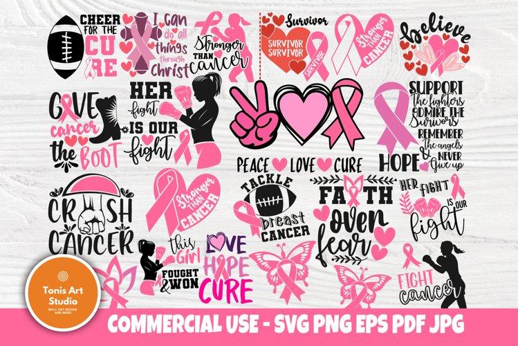Breast Cancer SVG Bundle, Cancer Survivor Svg, Pink Ribbon